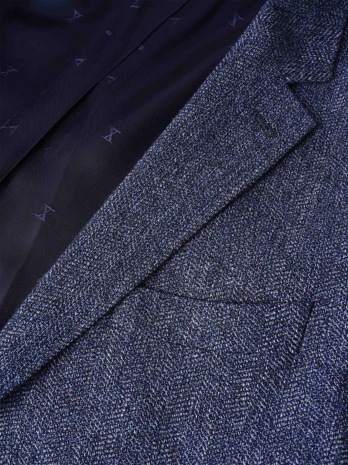 Blazer de algodão e linho regular fit