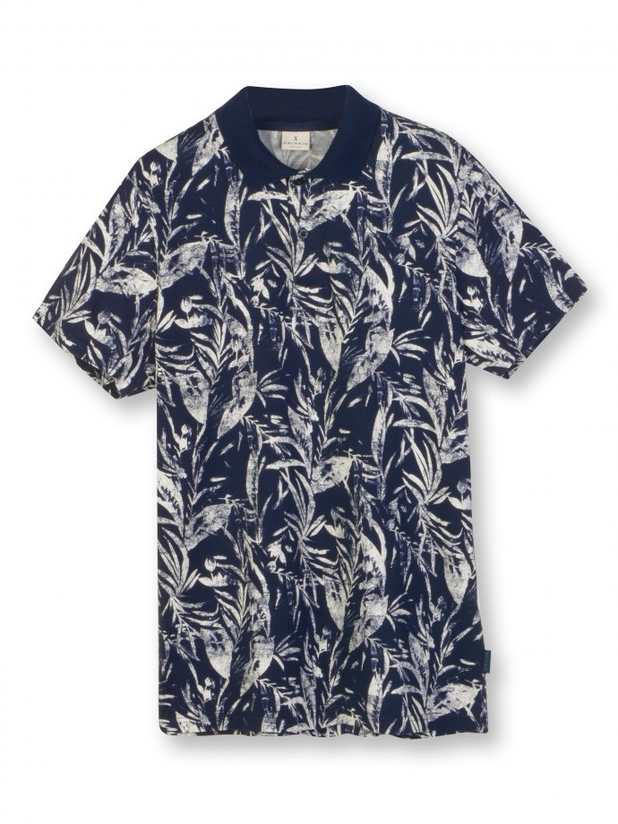 All over printed jersey polo