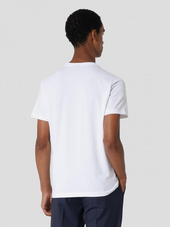 T-shirt com estampado logótipo