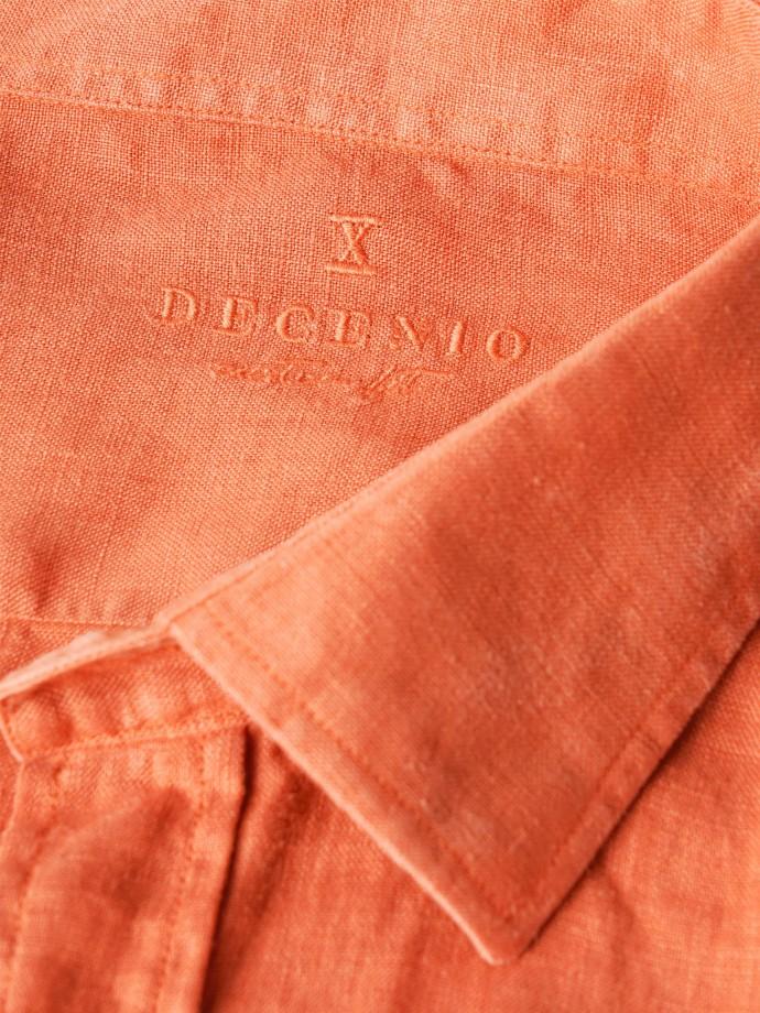 Camisa em linho com bolsos