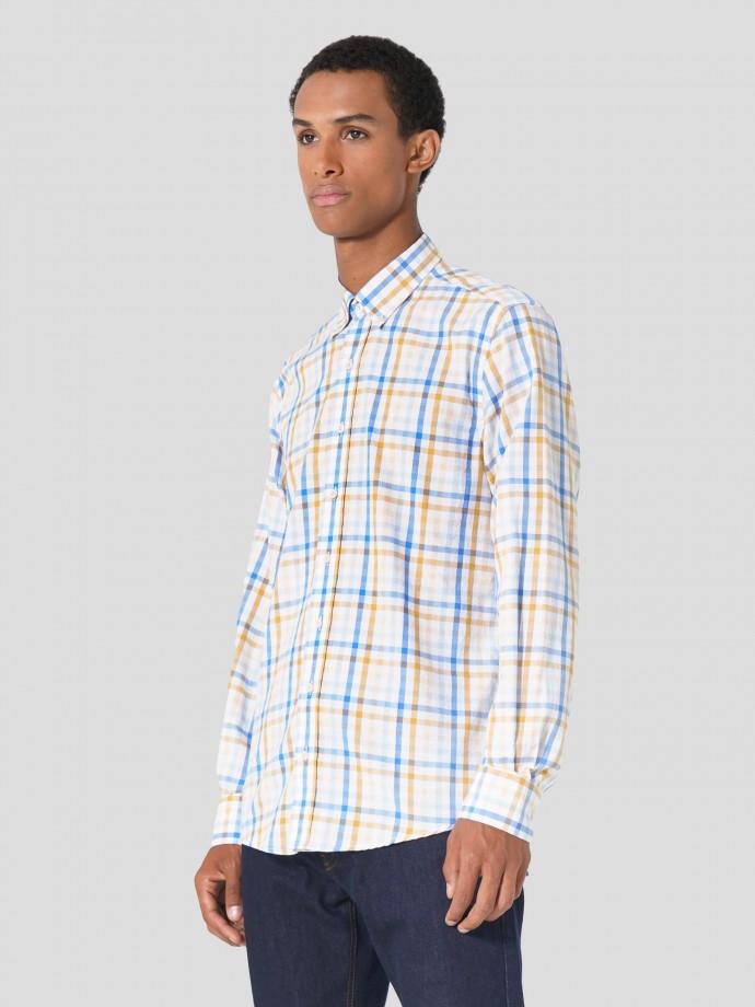 Camisa de corte regular en oxford