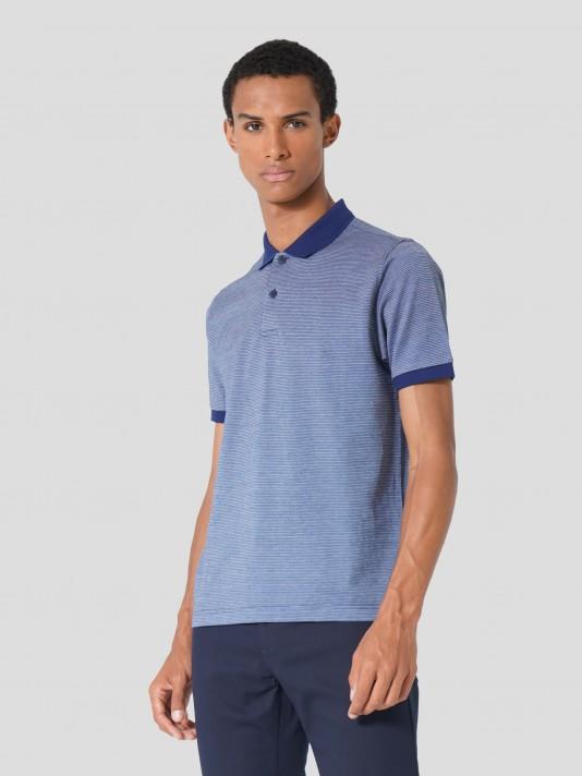 Mercerized jersey polo shirt