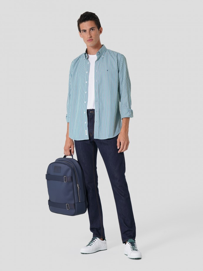 Camisa 100% algodão regular fit