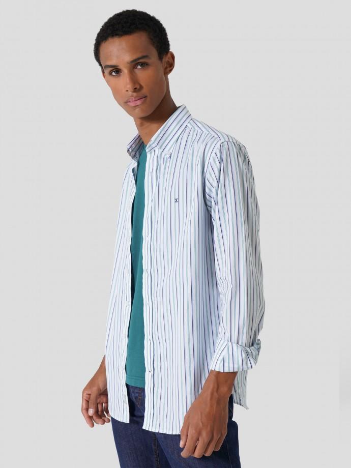 Camisa de popelina slim fit