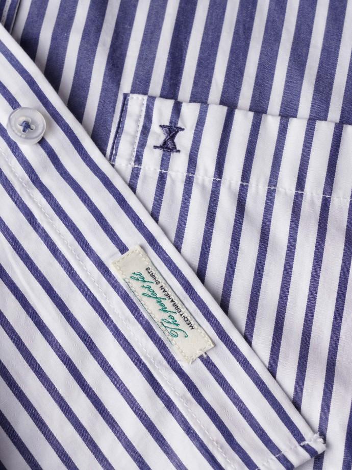 Camisa a rayas patchwork