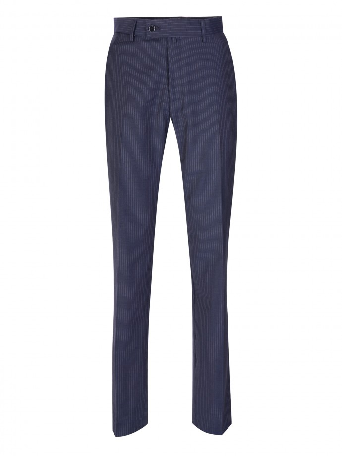 100% cold wool trousers with stripes
