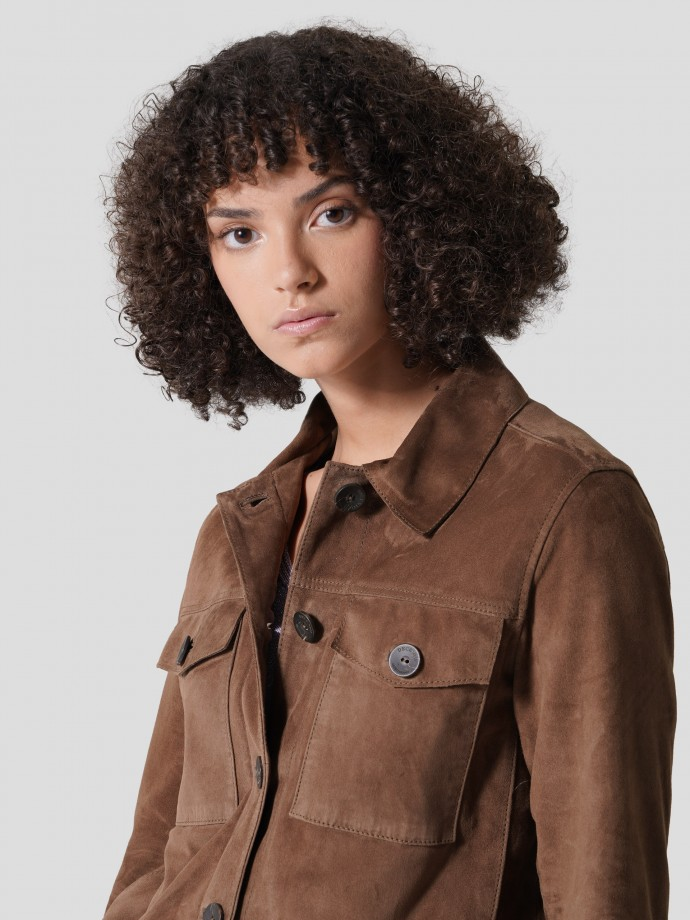 Suede fur jacket