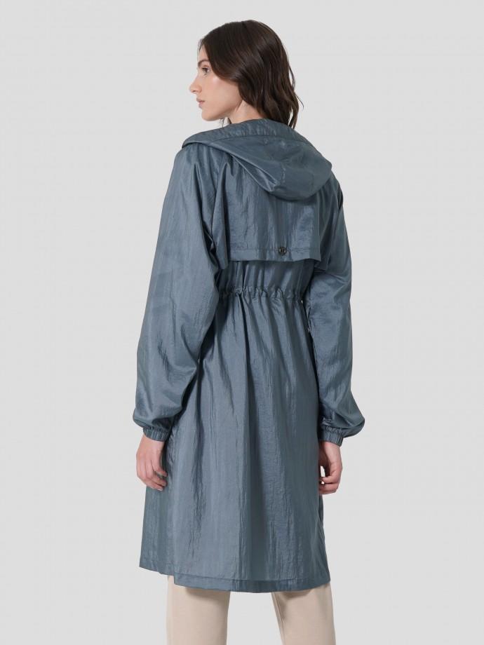 Hooded long parka