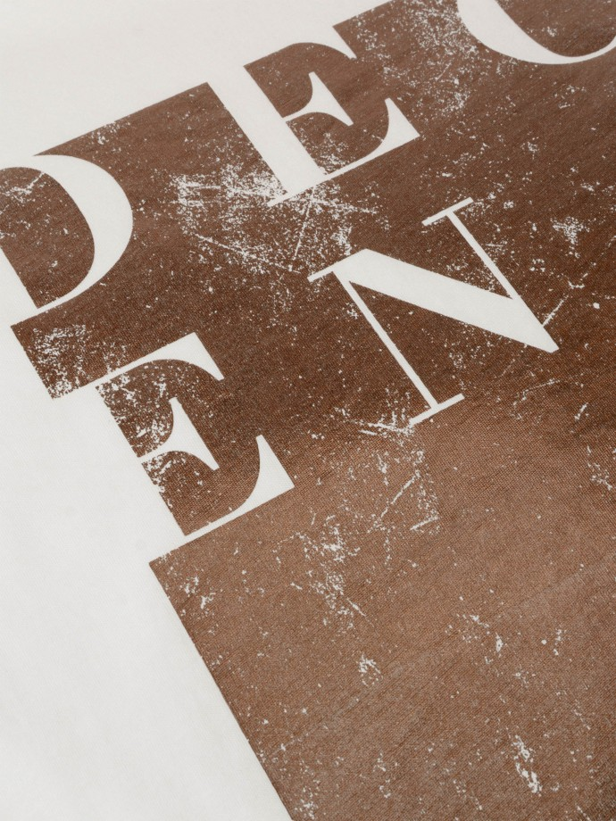 Asymmetric t-shirt with print