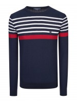 Sweater with strips