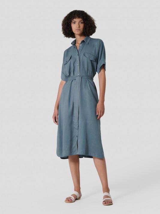 Vestido camisero de tencel
