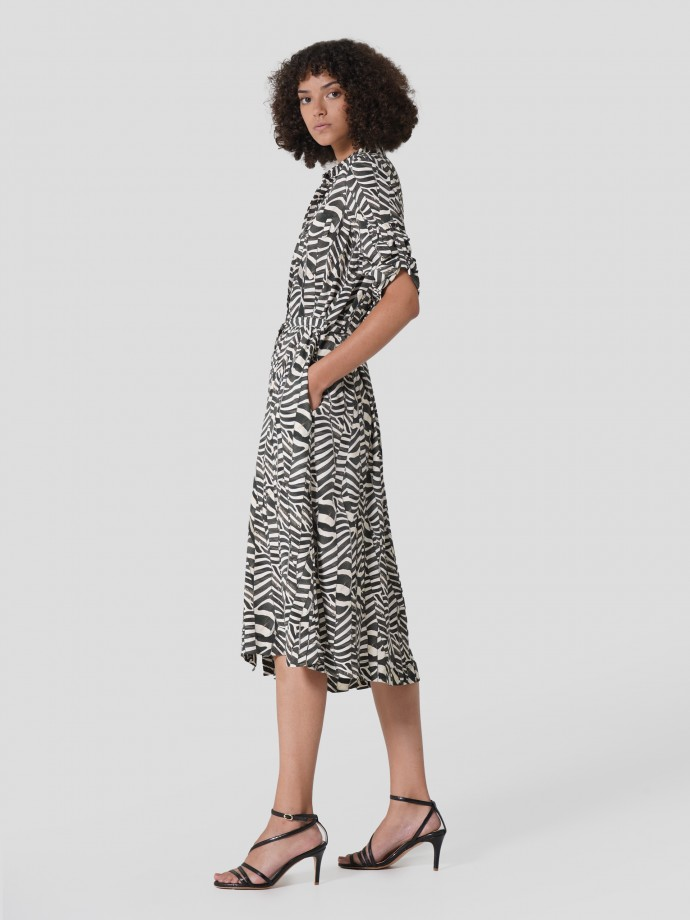 Zebra patterned dress