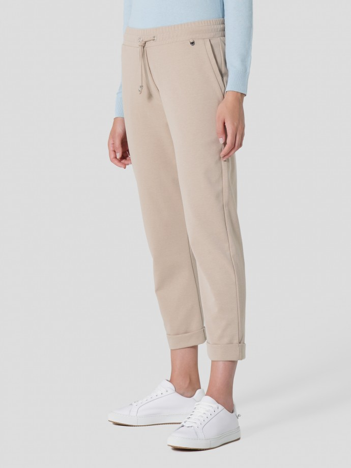 Knitted jogging trousers