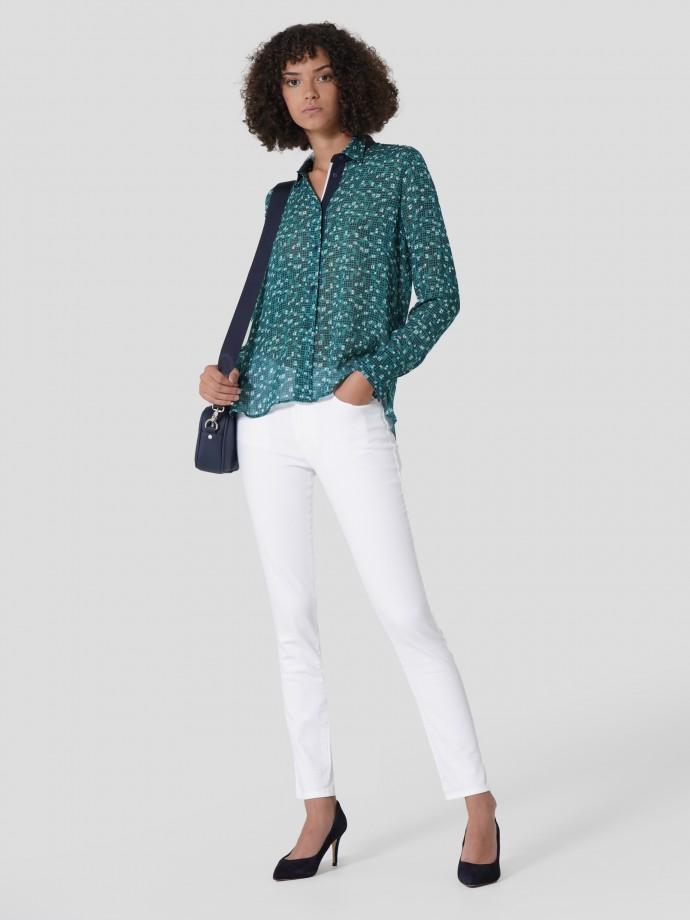 5 pocket skninny trousers