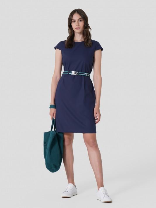 Vestido curto com cinto