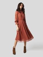 Ruffled printed dress