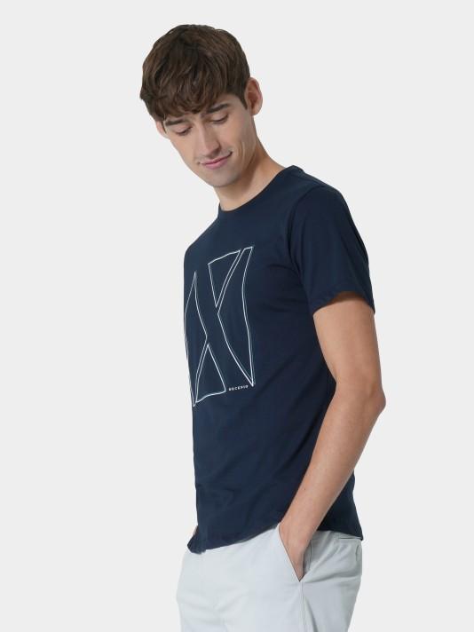 Camiseta con logo estampado