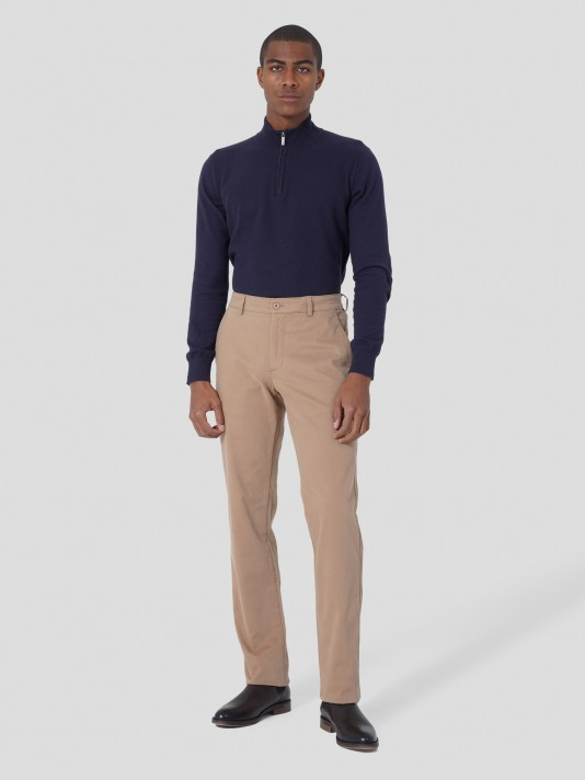 Serge regular fit chino trousers