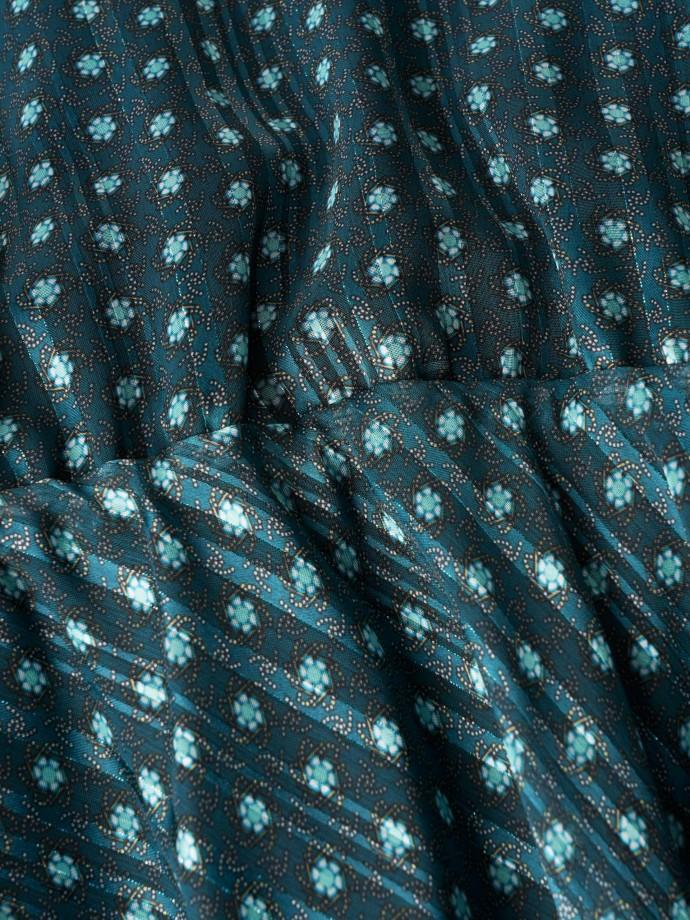 Patterned long sleeve dress