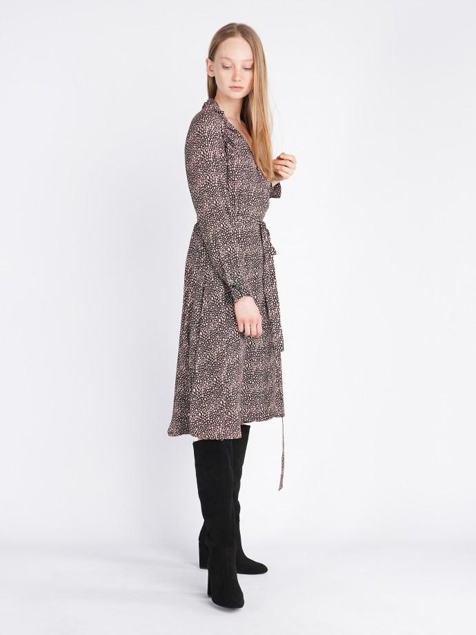 Pierced long sleeve dress