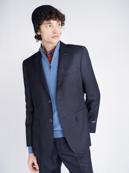 Regular fit pinstripe blazer