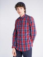Camisa de popelina cuadros regular fit