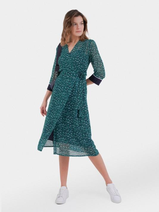 Vestido manga 3/4 patrón