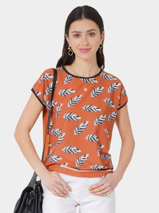 Leaves printed T-Shirt