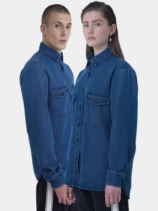 Unisex overshirt denim