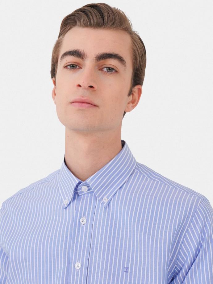 Camisa slim fit 100% algodón