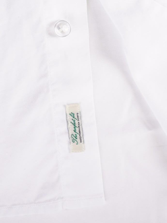 Camisa regular fit em sarja