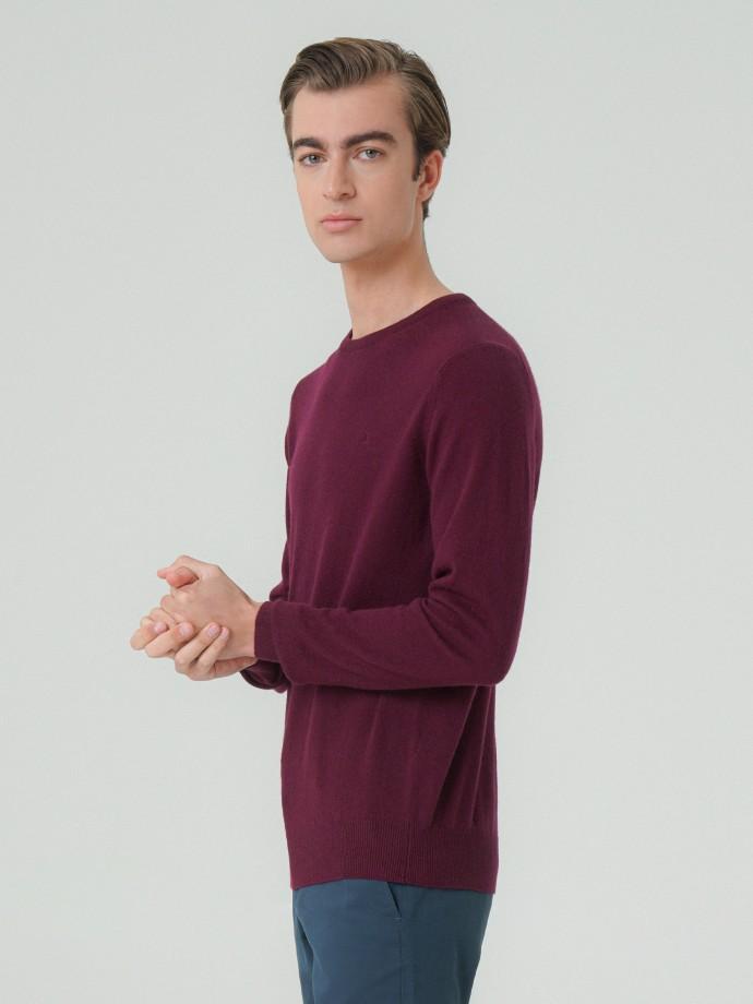 Camisola decote redondo 100% lã