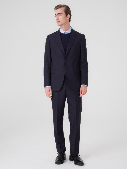 Regular fit wool suit