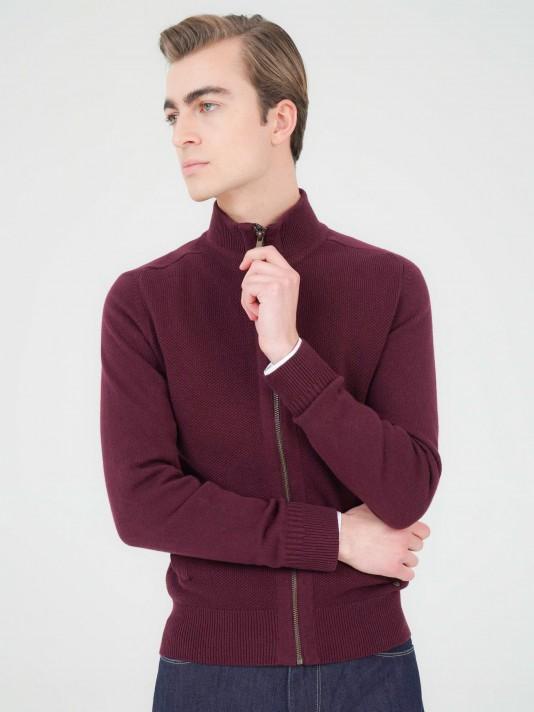 Zip knit jacket
