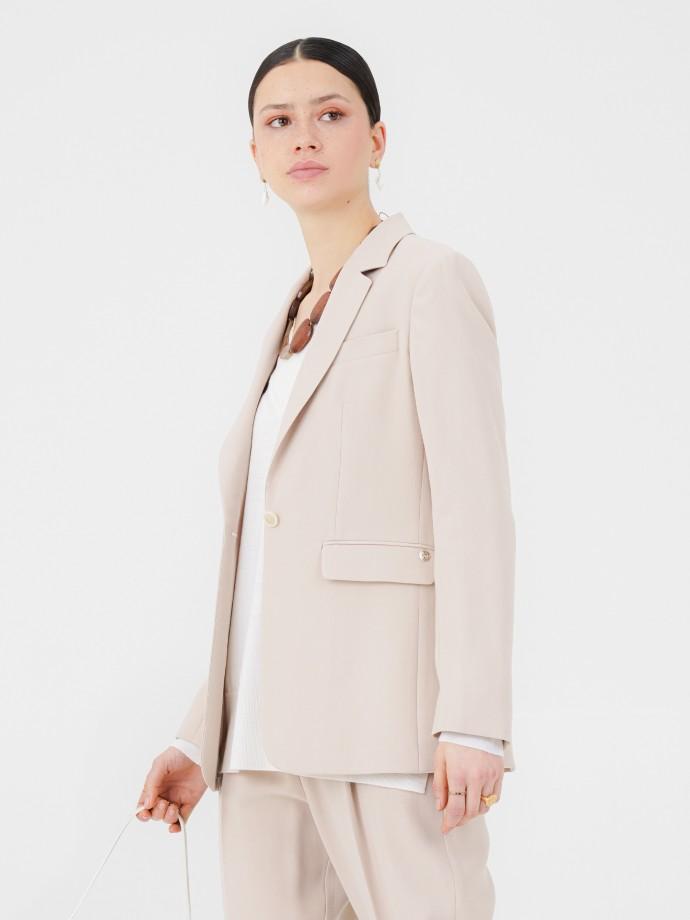 Long blazer with straight cut