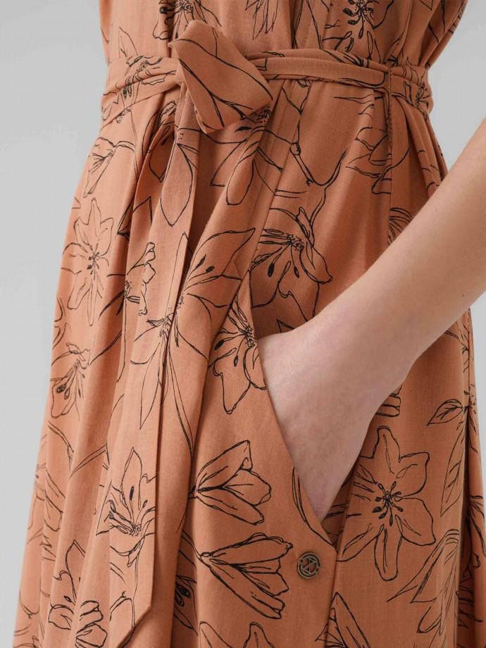 Vestido estampado motivos florales