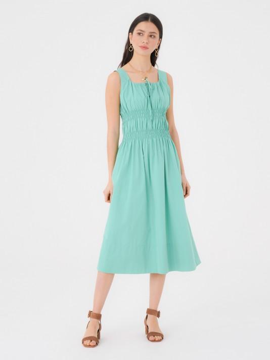 Wide straps long dress
