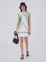 Vestido com estampado geométrico