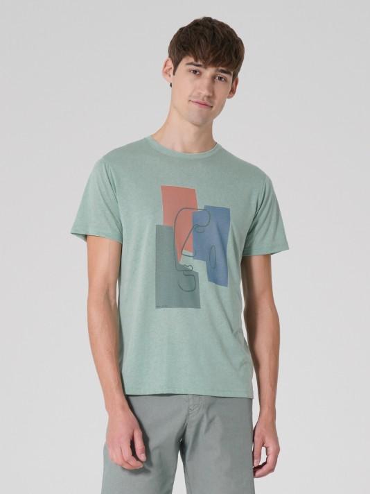 Camiseta con impresión gráfica