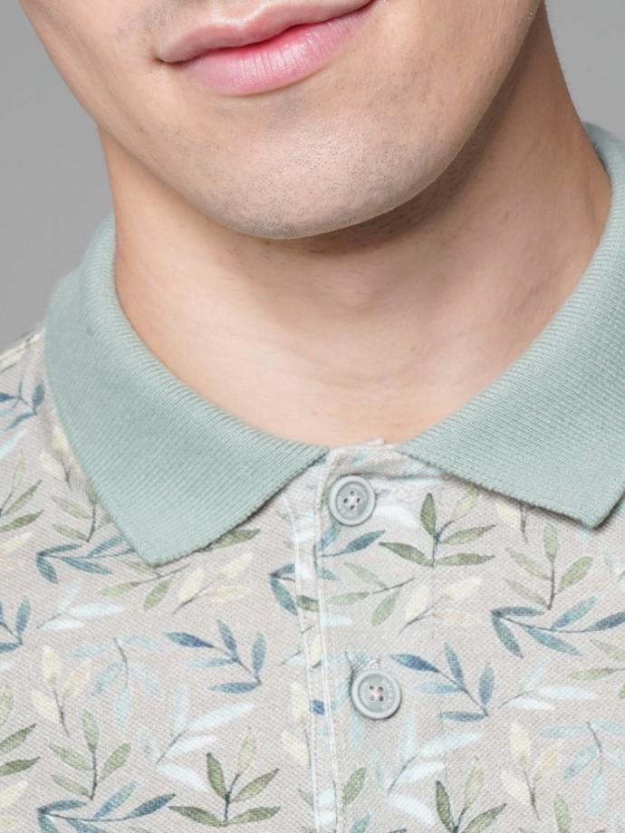 All over print polo shirt