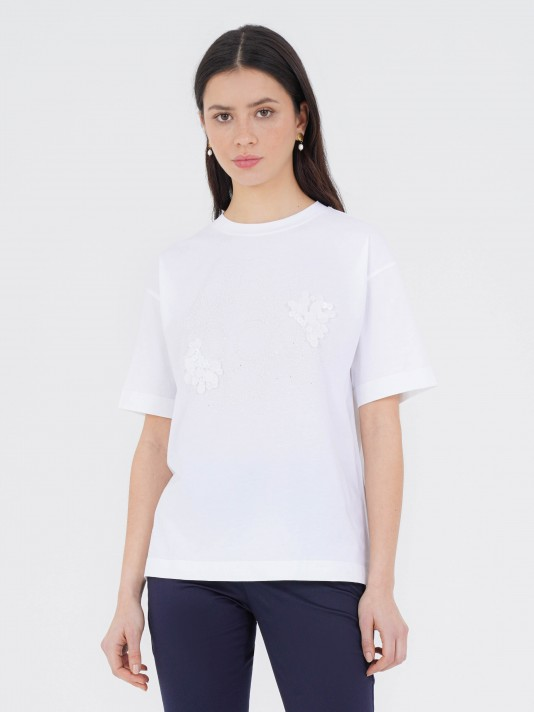 Camiseta de punto aplicación DCN