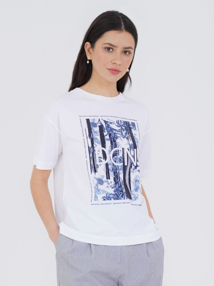 100% cotton t-shirt with brand print