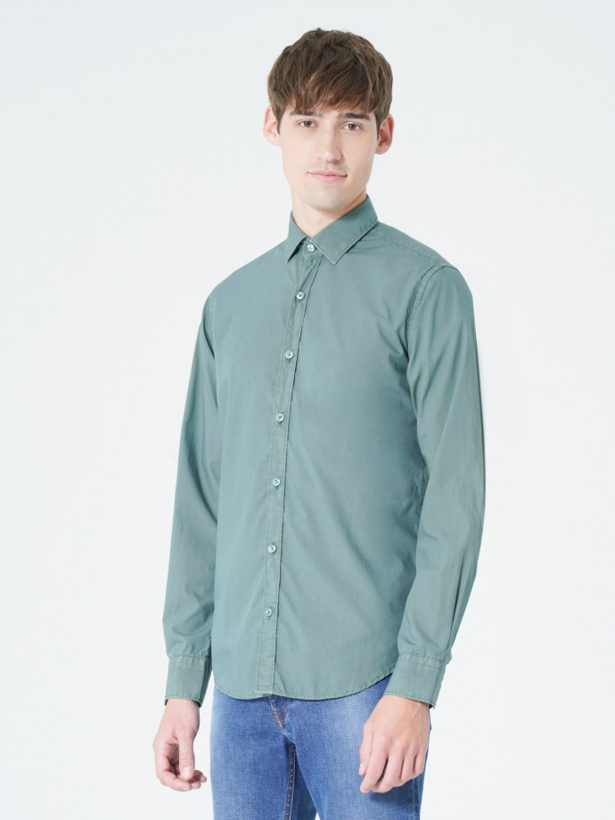 Camisa garment dye