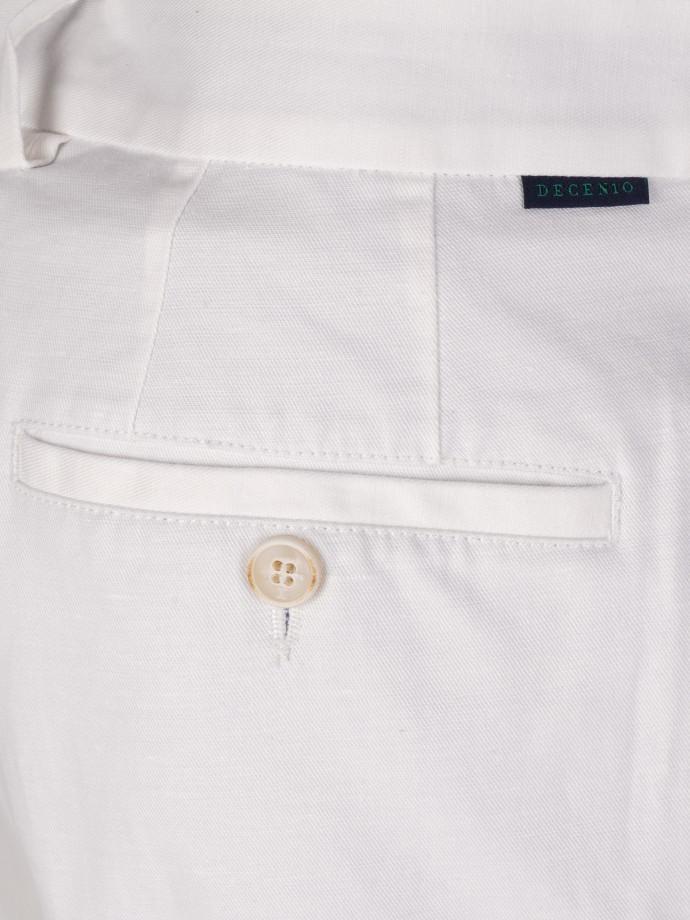 Calças em linho e algodão stretch