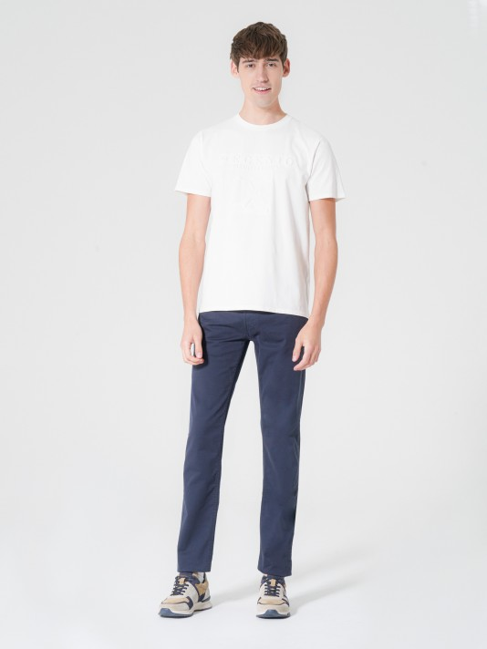 Five pockets trousers with regular cut