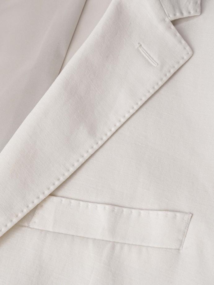 Blazer slim fit em algodão e linho