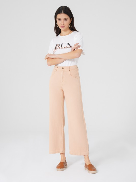Lyocel and cotton trousers