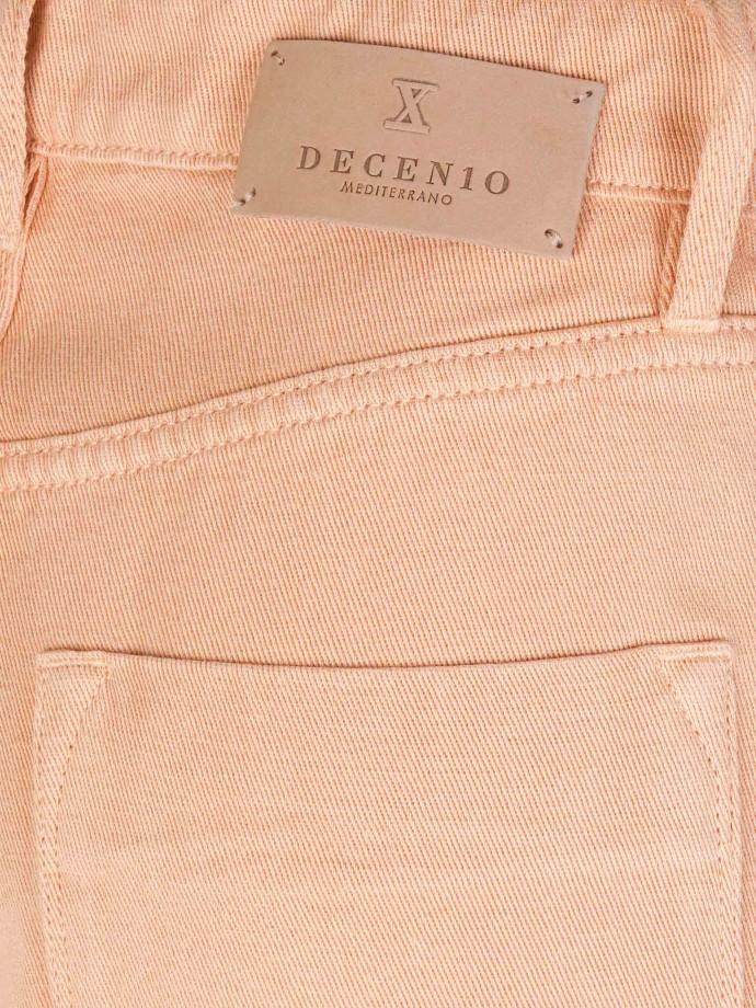 Calças pantacourt em lyocel e algodão