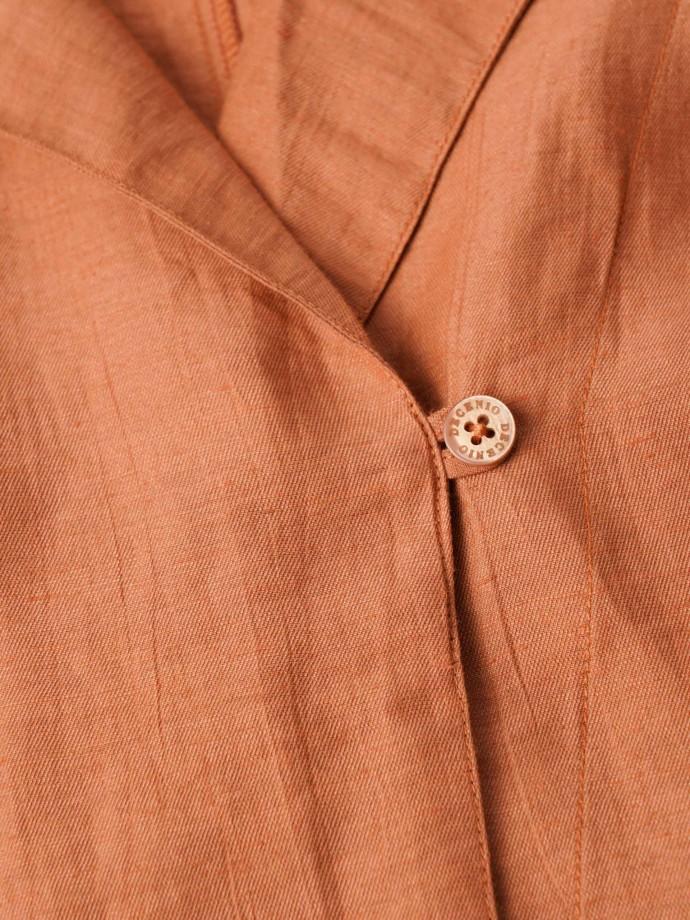 Vestido estilo blazer em linho
