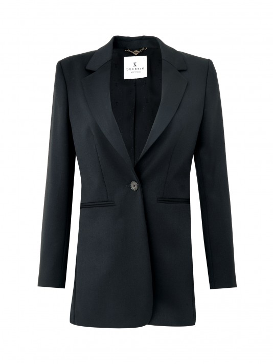 Long blazer with button